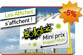 Rapid-flyer promo affiche numerique grand format